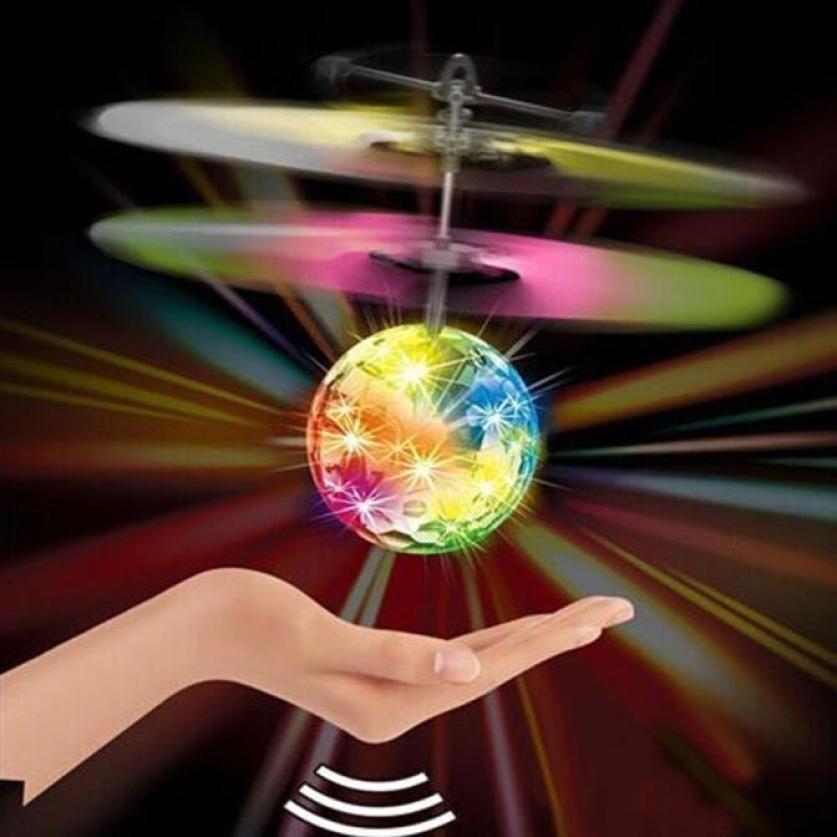 Летающий мяч индукции самолет свет игрушка блеск летающий мяч электронный мяч сверкающих Светодиодное освещение игрушка для детей Подарки