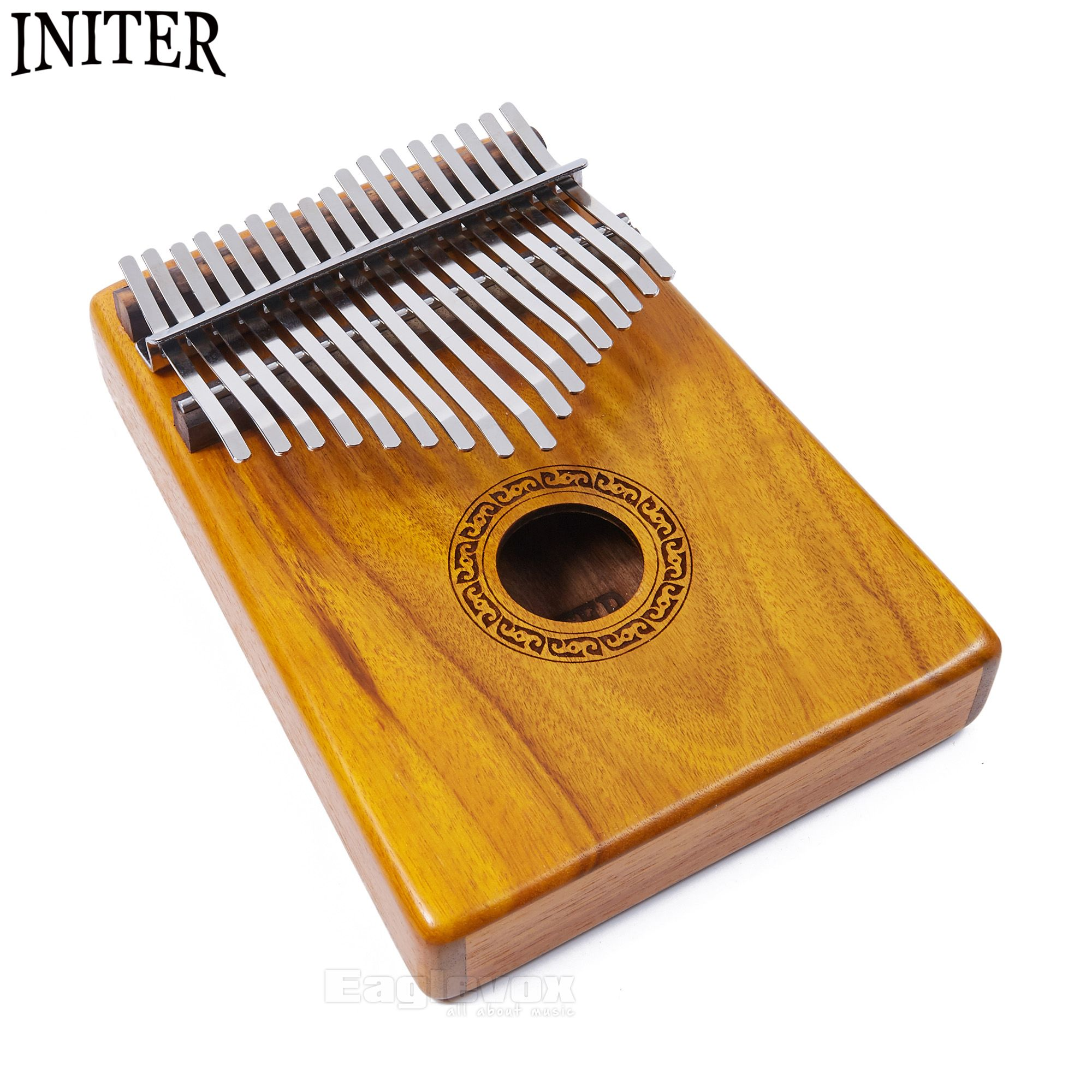 Initer Kalimba 17 Keys Acacia Thumb Piano Traditional African Music Instrument With Free Carry Bag and Tuning Tool 17 Notes