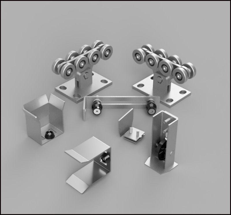 Kit3 heavy duty autimotion gate accessories cantilever gate roller sets Cantilever Sliding Gate Set