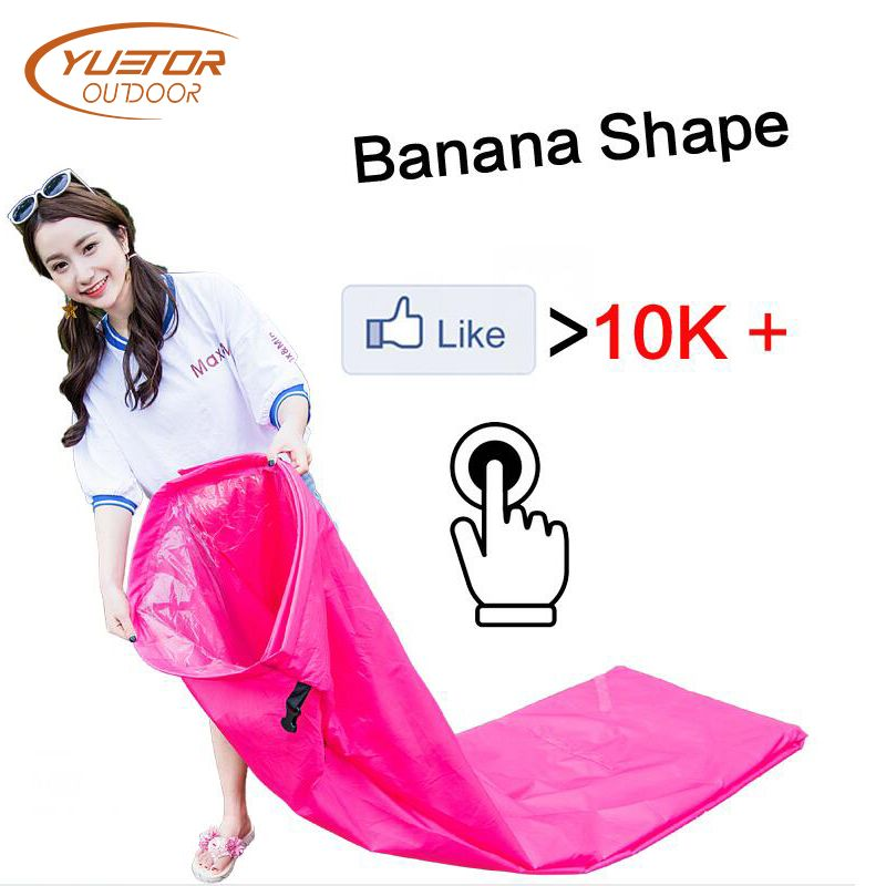 Banana Shape Lazy Bag Air Sofa for Music Party Fast Inflatable Laybag Outdoor Camping Portable Folding Sleeping Bag