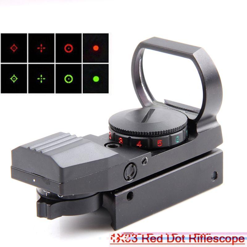 1x33 tactique combattant holographique 4 réticule rouge/vert Dot reflex portée de visée vert 20mm/11mm HD101 livraison gratuite