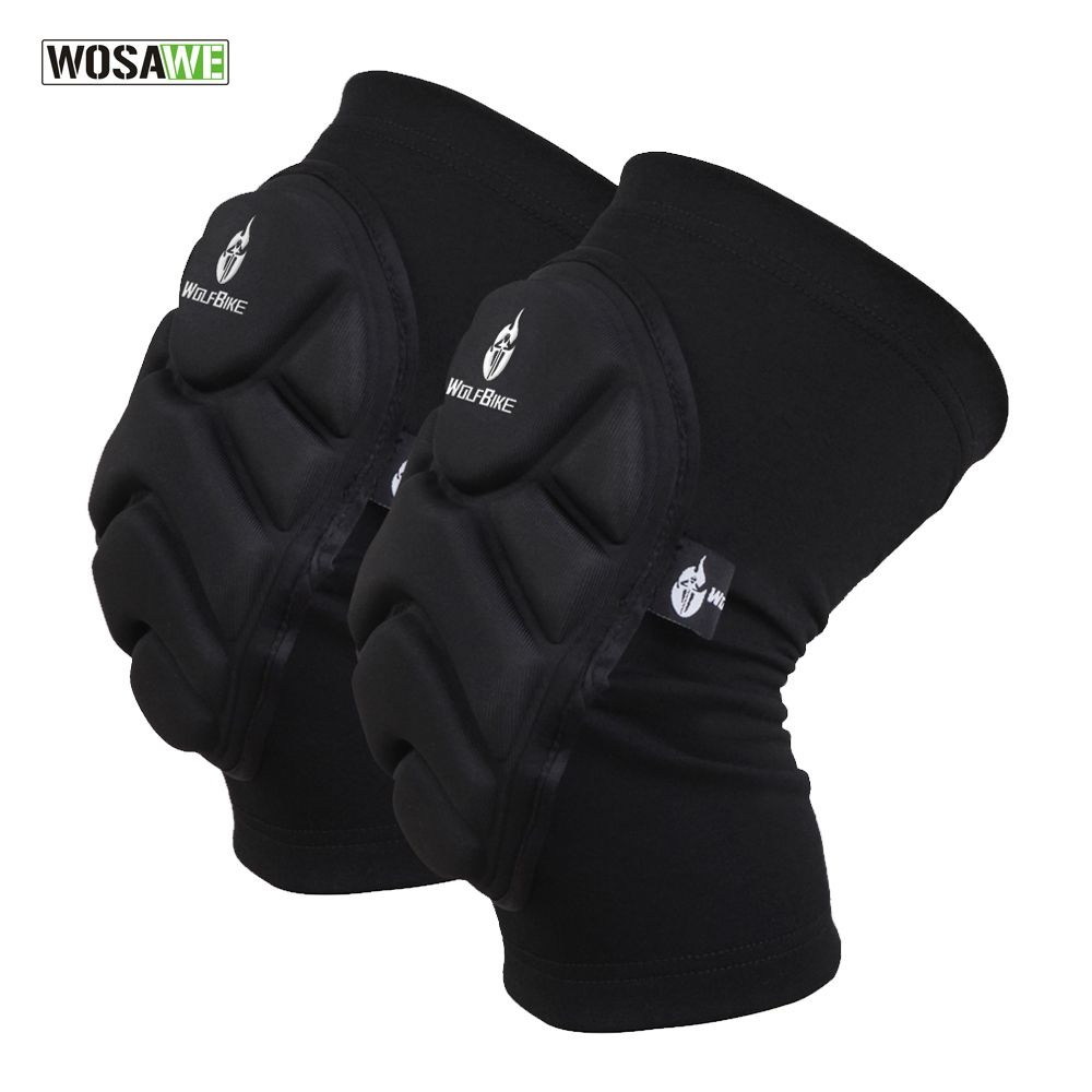 WOSAWE Two Pieces Kneepad Skiing Goalkeeper Soccer Football Volleyball Extreme Sports knee pads Protect <font><b>Cycling</b></font> Knee Protector