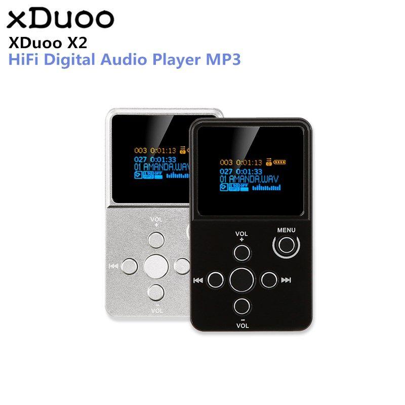 Original XDuoo X2 MP3 HiFi Digital Audio Player MP3 mit OLED Bildschirm TF Karte Slot Aluminium Legierung Gehäuse