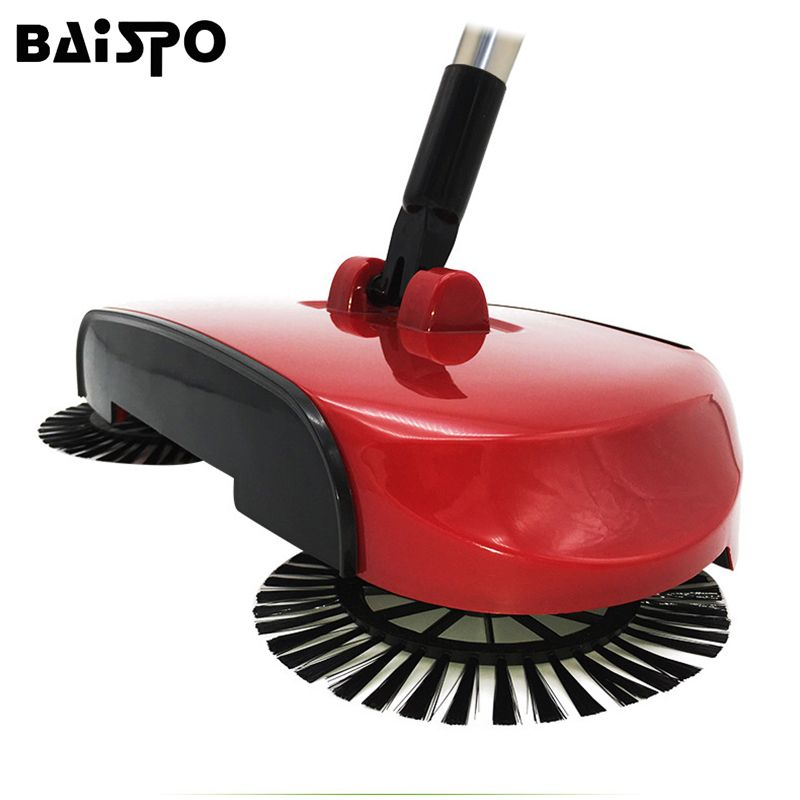 Stainless Steel Hand Push Sweepers Sweeping Machine Push Type Hand Push <font><b>Magic</b></font> Broom Sweepers Dustpan Household Cleaning Tools
