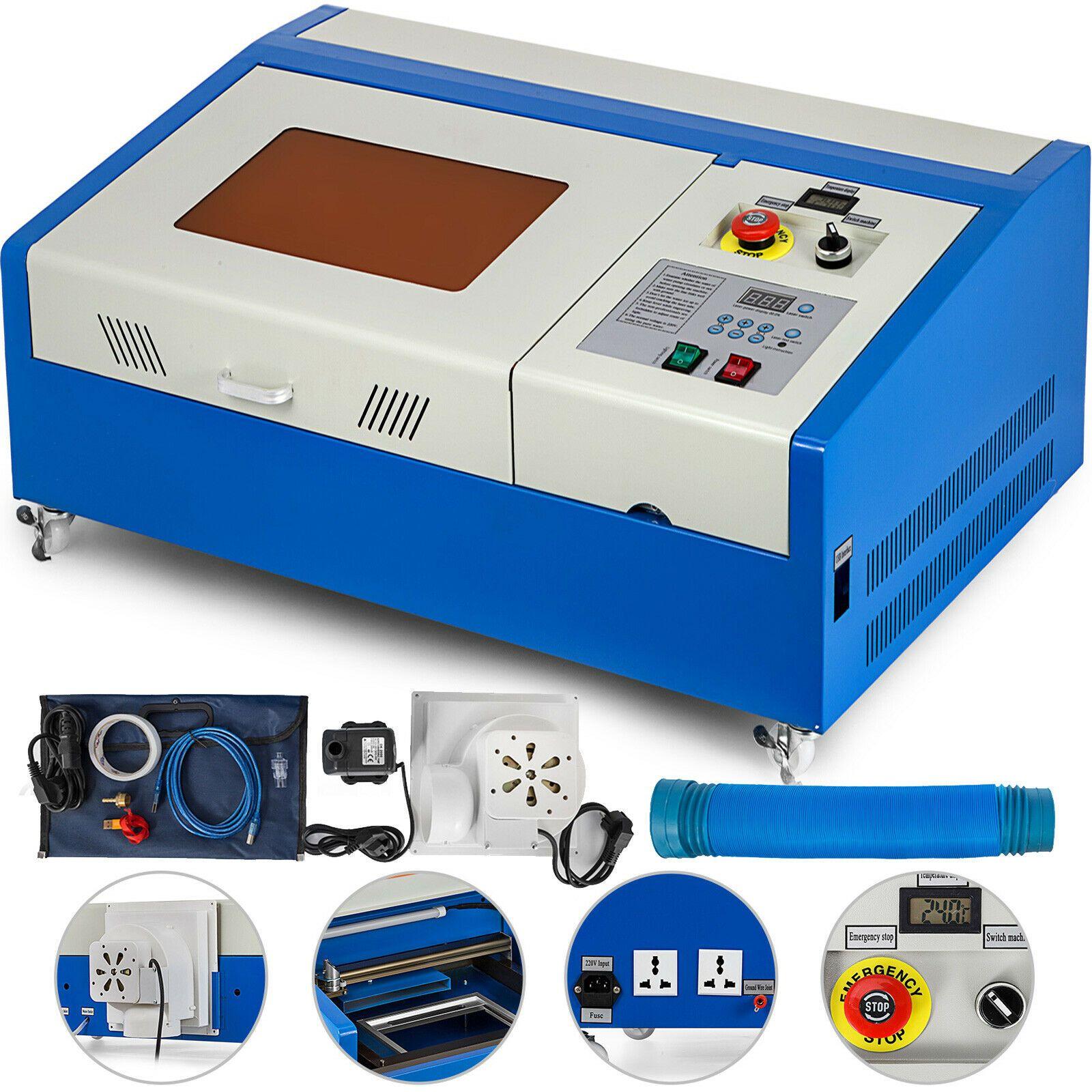 Aktualisiert HOHE PRÄZISE Schneiden Maschine Laser Gravur Maschine 40W CO2 Laser Maschine