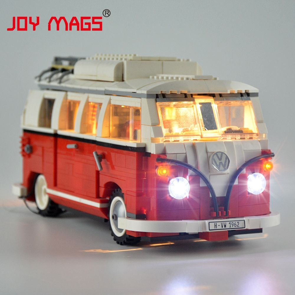JOIE MAGS Seulement Led Kit de Lumière Pour Créateur Volkswagen T1 Camping Lumière Ensemble Compatible Avec 10220 Et 21001 (comprend pas Modèle)