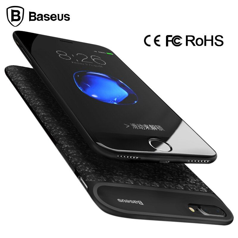 (RU) Baseus Battery Charger Case For iPhone 6 6s 2500/5000mAh External Battery Case Cover Power Bank Case For iPhone 7 / 7 Plus