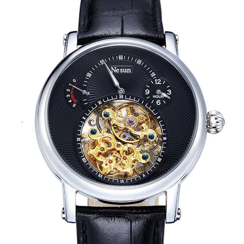 Switzerland Luxury Brand Nesun Hollow Tourbillon Watch Men Automatic Mechanical Men's Watches Sapphire Waterproof clock N9081-3
