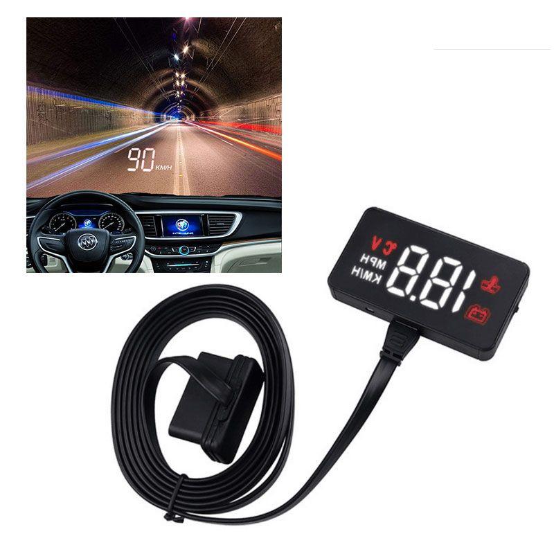 GEYIREN A100 voiture HUD affichage tête haute OBD2 II EUOBD système d'avertissement de survitesse projecteur pare-brise alarme de tension électronique automatique