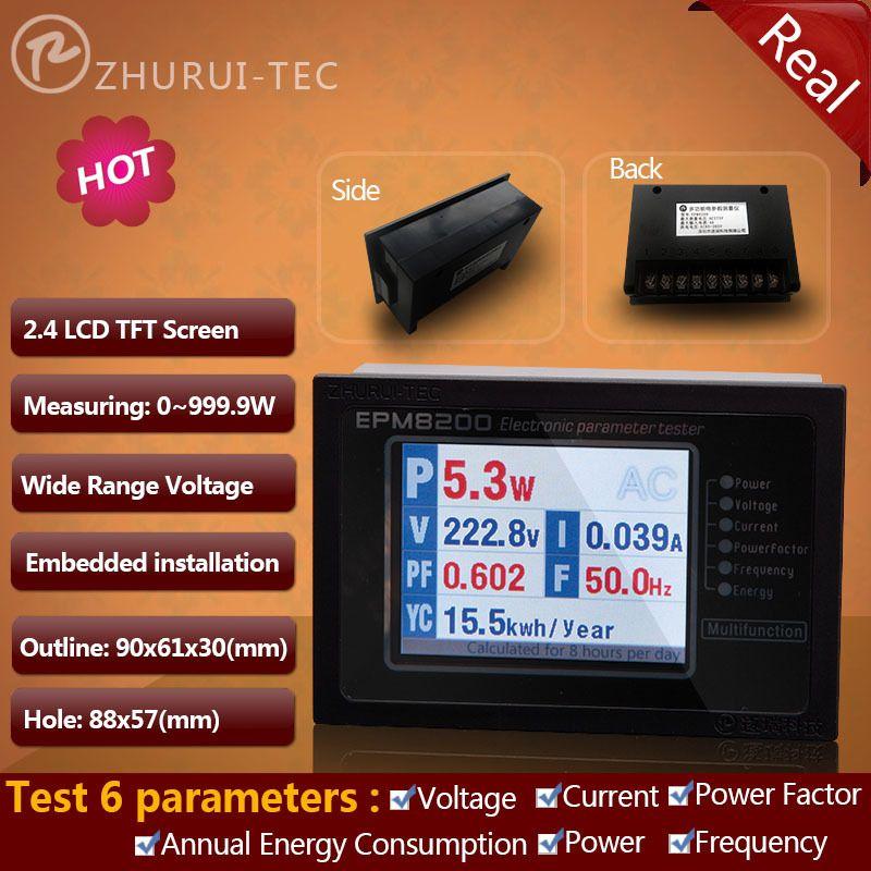 EPM8200 AC wattmètre numérique wattmètre kwh mètre tension courant facteur de puissance 1000 W 4A 110 v 220 v