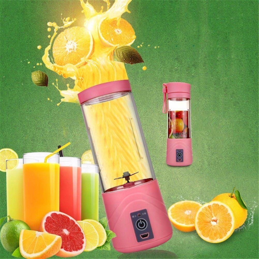 400ml Portable USB Electric Juicer Cup Fruit Citrus Juicer Bottle Handheld Milkshake Smoothie Maker Rechargeable Juice Blender