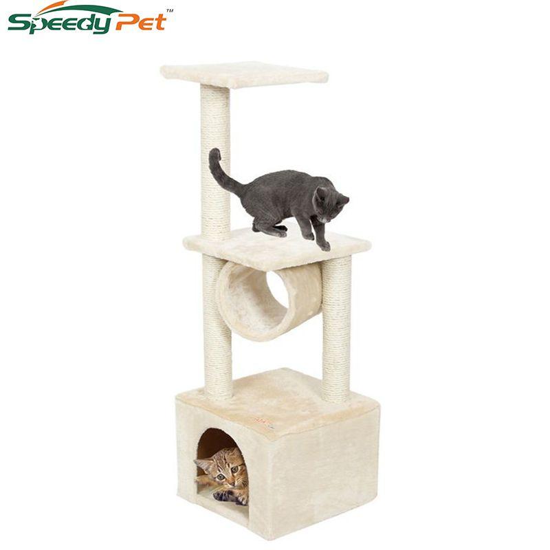 Livraison domestique H110cm chat jouet chaton maison griffoir bois escalade chat arbre Pet maison chat luxe sautant cadre meubles
