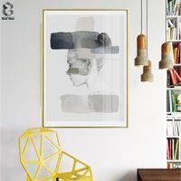 Nórdicos y carteles impresiones pared arte lienzo retrato de pintura habitación escandinavo hogar Decoración