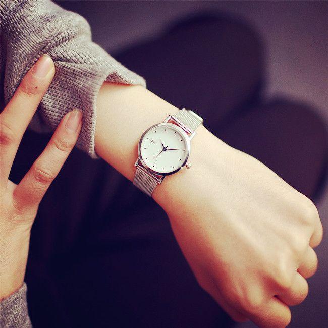 JIS marca de alta calidad de cuarzo relojes de acero inoxidable pulsera de moda mujeres reloj señoras reloj hombres reloj casual
