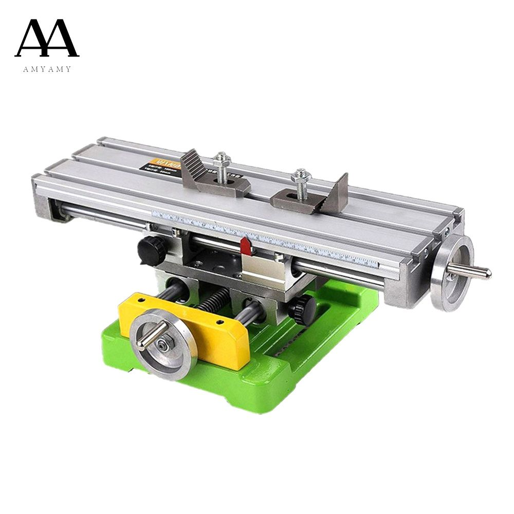 AMYAMY Compound Slide Table Worktable Milling Cross Table Mill Machine Drilling Table For Bench Drill Adjustme X-Y ship from USA