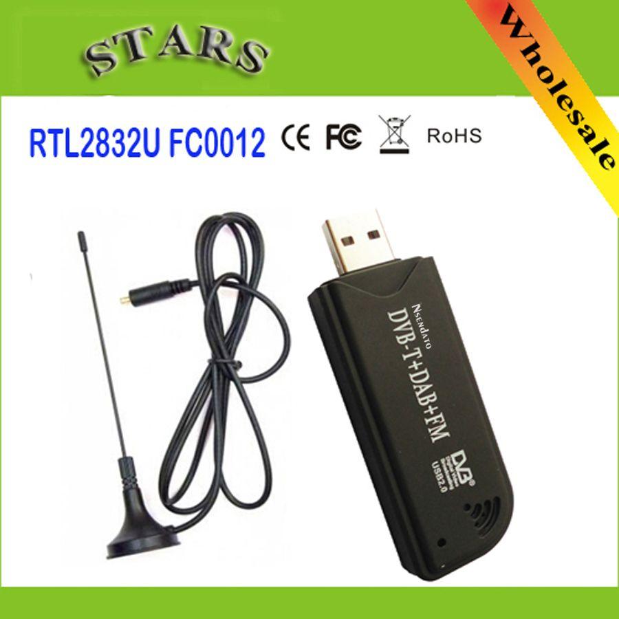 USB2.0 TUPFEN FM DVB-T RTL2832U FC0012 SDR RTL-SDR Dongle Stick Digitale Tv-tuner-empfänger Ir-fernbedienung mit Antenne, Dropshipping