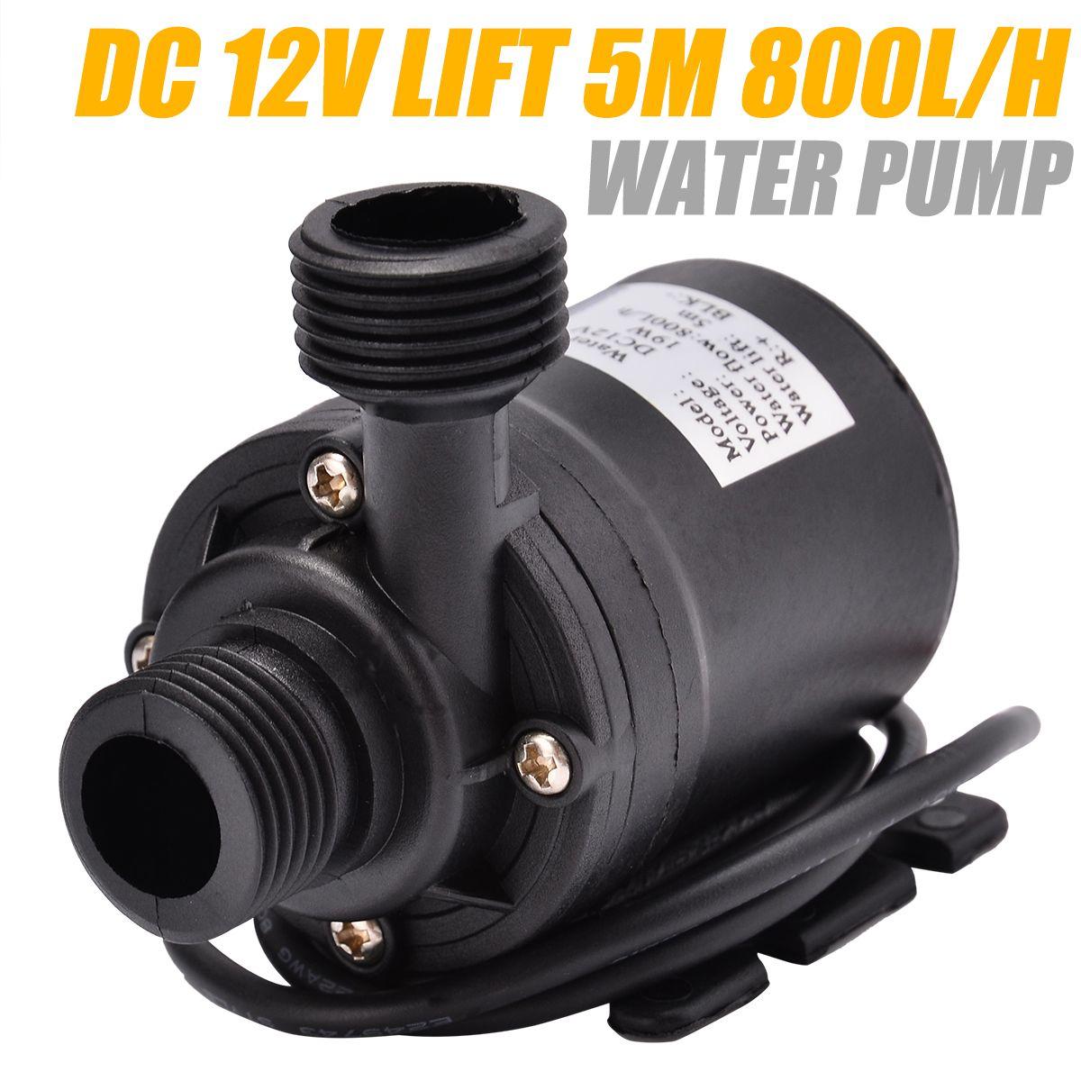 Pompe à eau Submersible Ultra silencieuse de Mini moteur sans brosse de pompe de fontaine d'eau filtre pompes à eau d'étang de poissons 5 M 800L/H DC12VAB