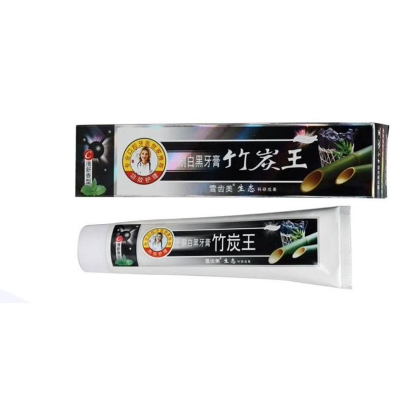 1 PC Bamboo charcoal black toothpaste anti-halitosis go smoke stains to stain teeth whitening Oral Care whitening toothpaste Z4
