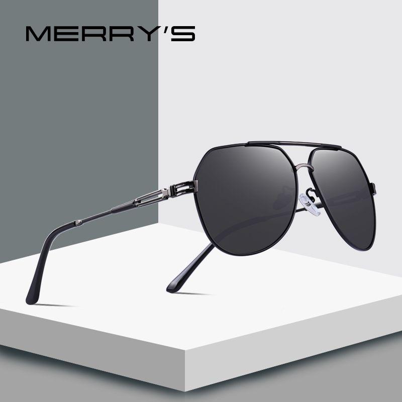 MERRY'S DESIGN Männer Schild Sonnenbrille HD Polarisierte Sunlasses Für Männer UV400 Schutz S'8120