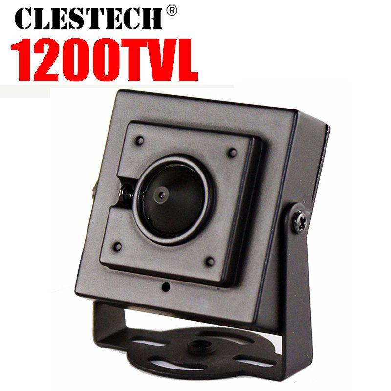 Nouveau Micro cône 3.7mm lentille HD 1/4 CMOS 1200TVL petite couleur analogique vidéo CCTV sécurité Mini caméra Surveillance métal ont support