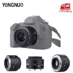 Original YONGNUO lente YN50 mm YN50mm F1.8 YN35 mm YN35m F2.0 para Canon EF para Nikon F DSLR lente de la cámara