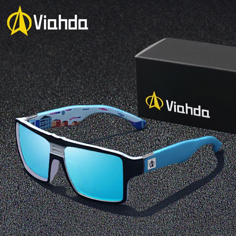 Viahda nouvelles lunettes de Soleil Polarisées Hommes Conduite Nuances Mâle de Lunettes de Soleil Pour Hommes Rétro Marque De Luxe Designer