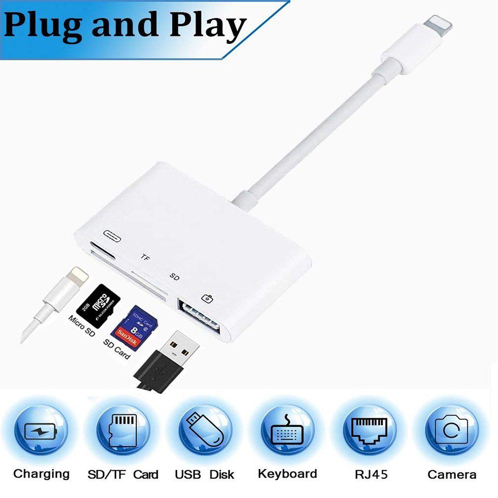 4 en 1 SD TF carte caméra Kits de connexion pour Lightning à USB caméra lecteur adaptateur OTG câble pour iphone x 8 8pls pour ipad Air