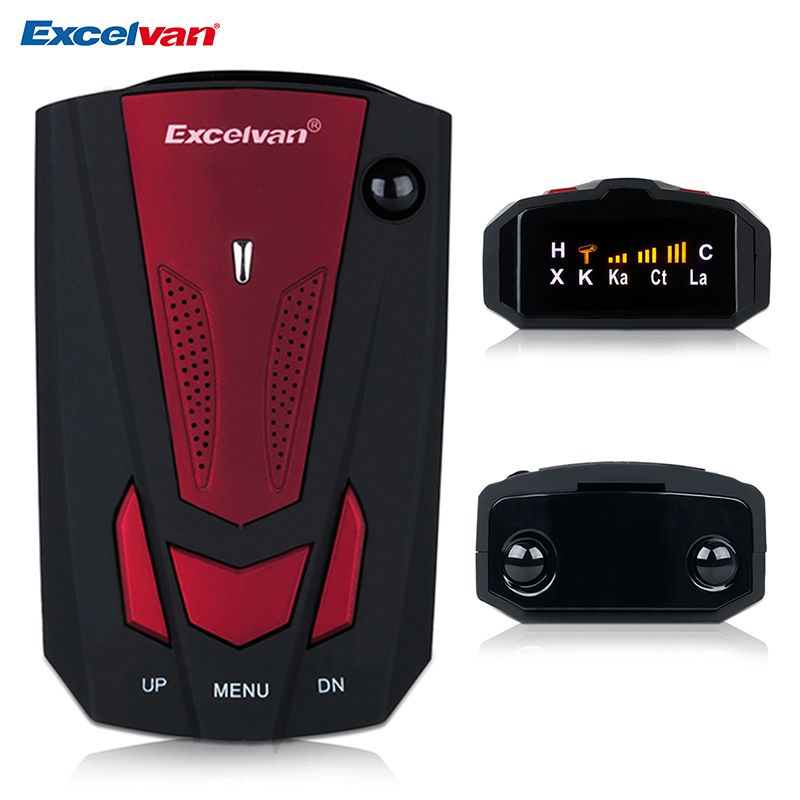Excelvan 360 <font><b>Degree</b></font> v7 Car Radar Detector Anti Police Full 16LED Band Speed Safety Scanning Advanced Voice Alert Warning