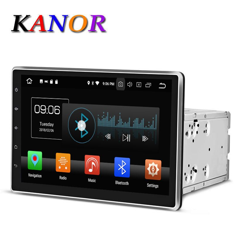 KANOR Android 8.0 Octa Core 4g 10.1 inch Double 2 din Car GPS DVD Player Bluetooth Stereo Satnavi 2din Car Radio Multimedia