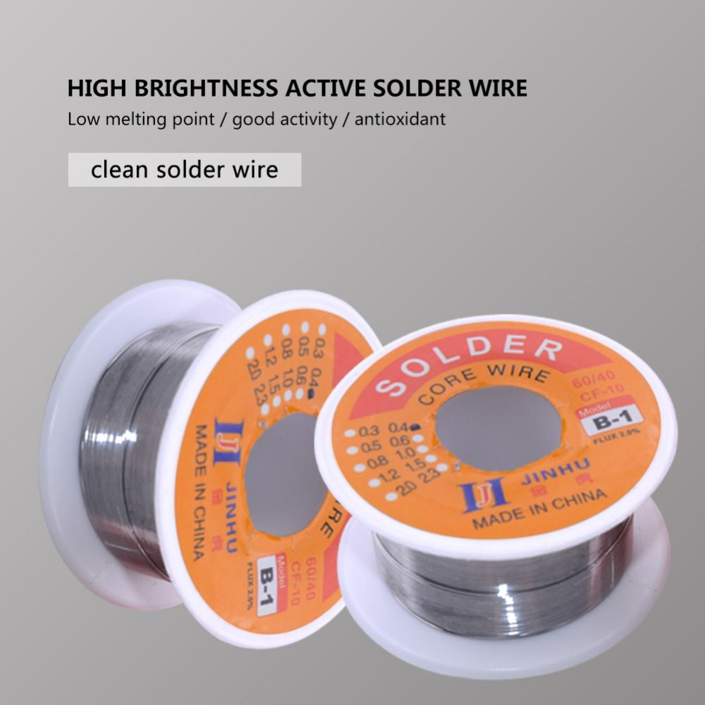 Solder Wire 0.3/0.4/0.5/0.6/0.8/1.0mm Diam 60/40 free clean rosin Core Low Melting Point High brightness Soldering Tools