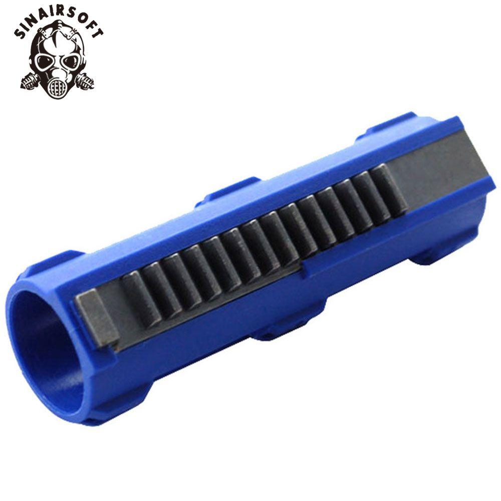 Offre Spéciale SHS Bleu Fibre Renforcé En Acier Plein 14 Dents Piston Pour Airsoft M4 AK G36 MP5 Boîte De Vitesses Ver 2/3 AEG accessoires d'armes à feu