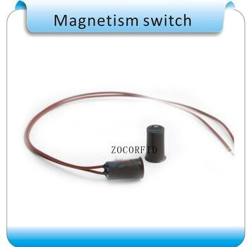 Livraison gratuite 10 pcs circulaire Porte Fenêtre Contacts de Sécurité Magnétique Reed Printemps Interrupteur D'alarme Normale fermer Style Vis