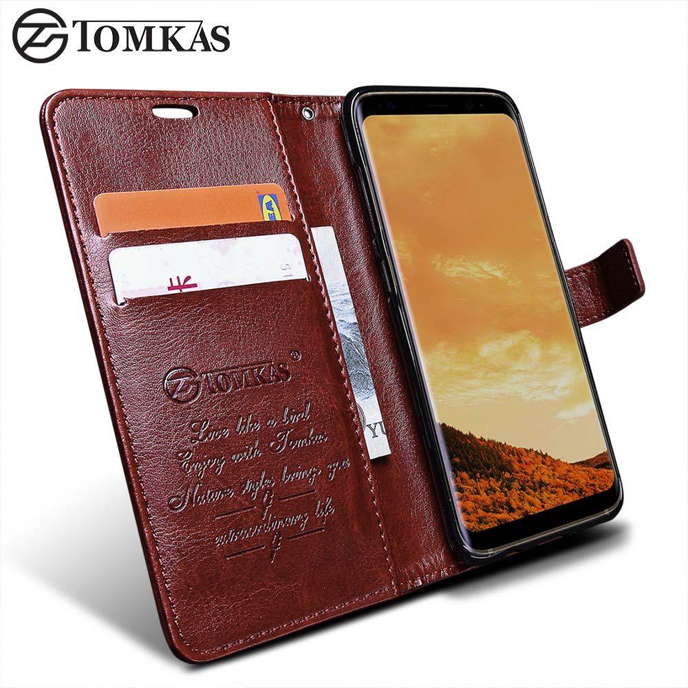 Portefeuille Cas Pour Samsung Galaxy S8/S8 Plus TOMKAS D'origine PU Cuir Flip Phone Housse Pour Samsung Galaxy S8 Plus cas