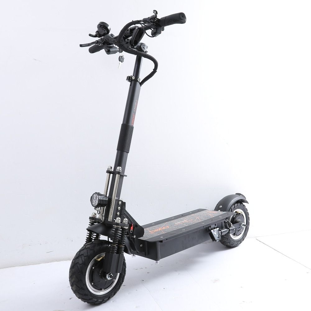UBGO 1005 Plus 52 V LG Batterie Doppel Fahrer Motor Leistungsstarke Elektrische Roller 10 Zoll E-Roller