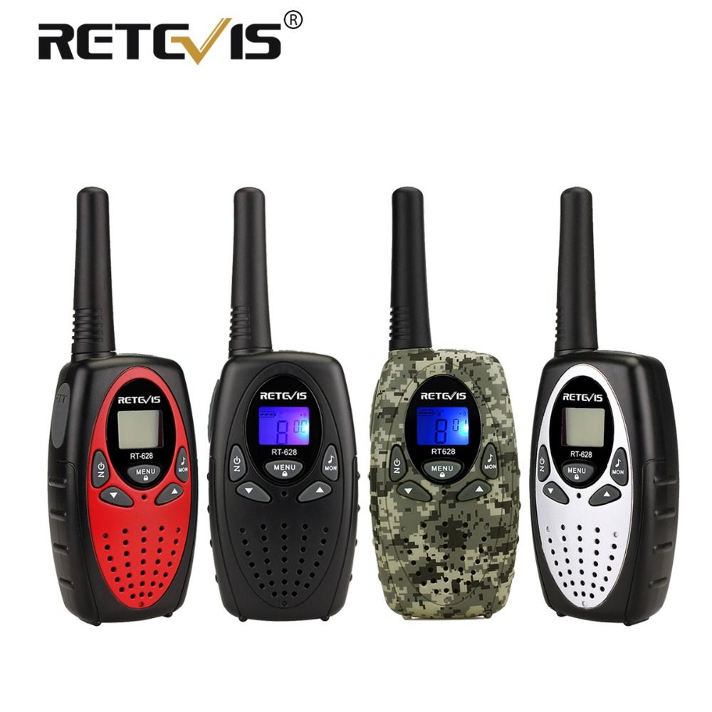 2pcs Retevis RT628 Mini Walkie Talkie Kids Radio 0.5W 8/22CH PMR PMR446 FRS/GMRS VOX PTT Children 2 Way Radio Gift Toy Walk Talk