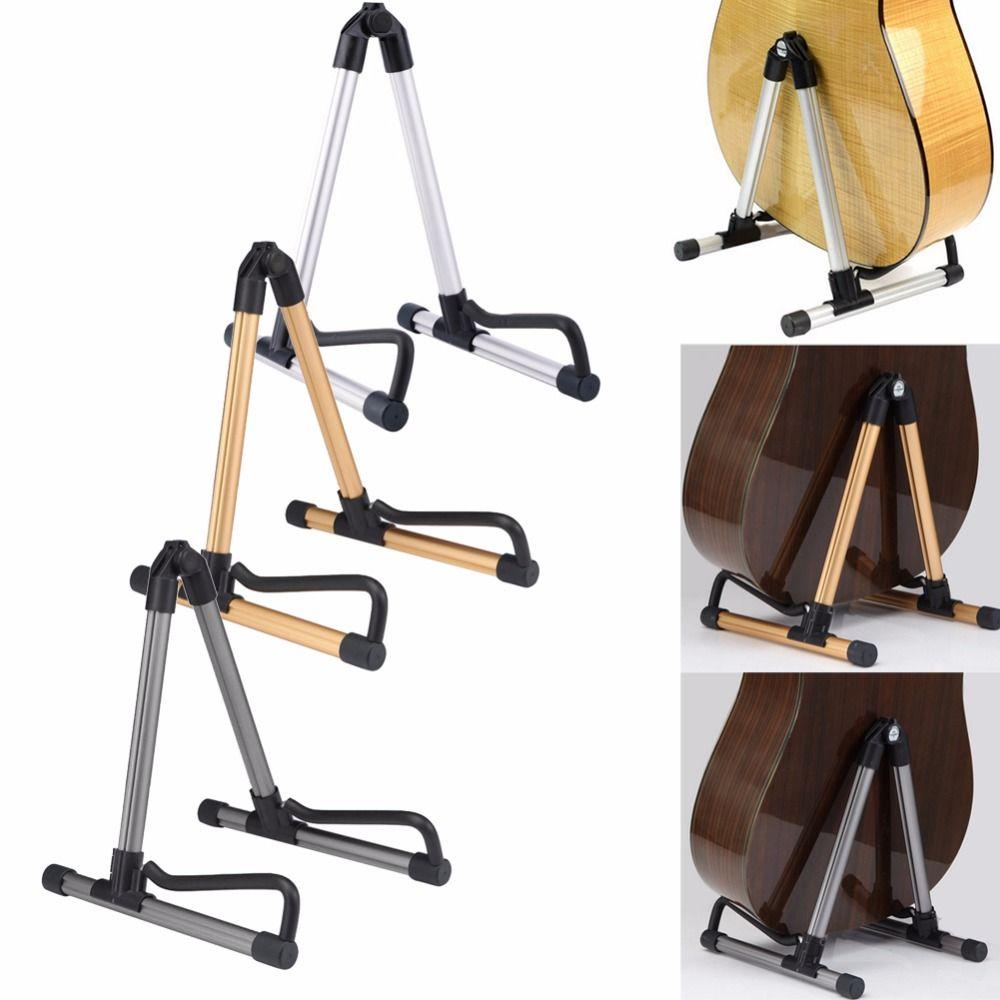 Nueva 3 colores Guitarras soporte plegable universal una Marcos uso para eléctrica acústica Guitarras s Guitarras soporte de suelo alta calidad