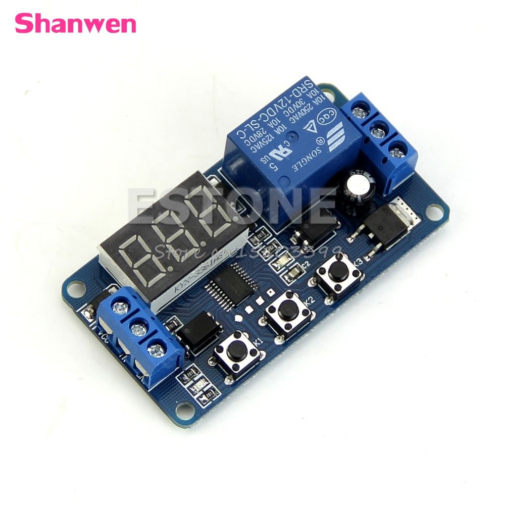 12 V LED Home Automation Delay Timer Control Schalter Relaismodul digitalanzeige G08 Drop ship