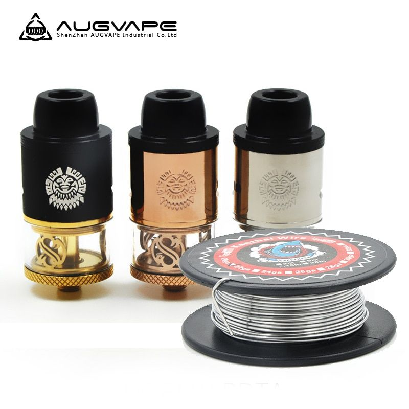 Original Augvape Merlin RDTA Atomizer tank Vaporizer Vape with 3.5ml Capacity Derlin Top Cap and Drip tips Vs Merlin MINI TANK