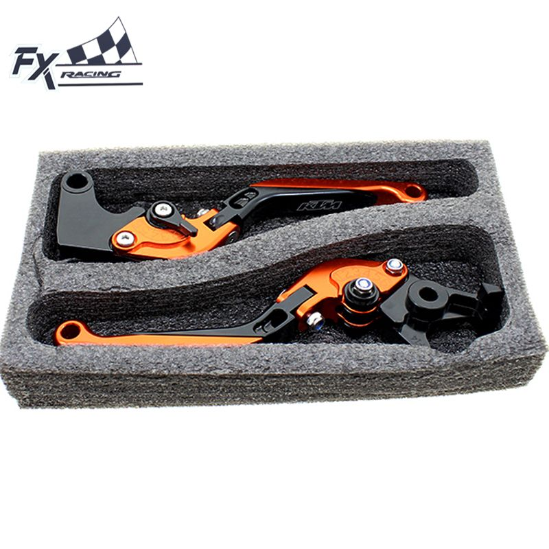 For KTM Duke 690 SMC SMCR Enduro R 2014 - 2016 2015 CNC Motorcycle Folding Extendable Brake Clutch Levers With Package