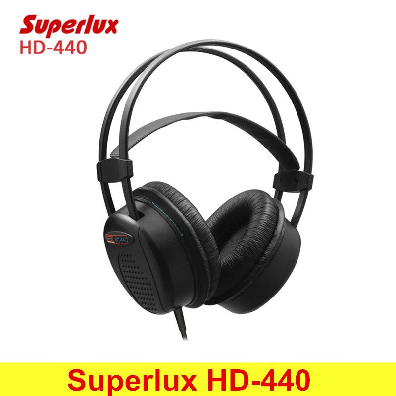 Superlux HD-440 Wired Headphone Booming Bass Stereo Dynamic Closed-back Headset with Auto-adjustable Headband Noise Reduction