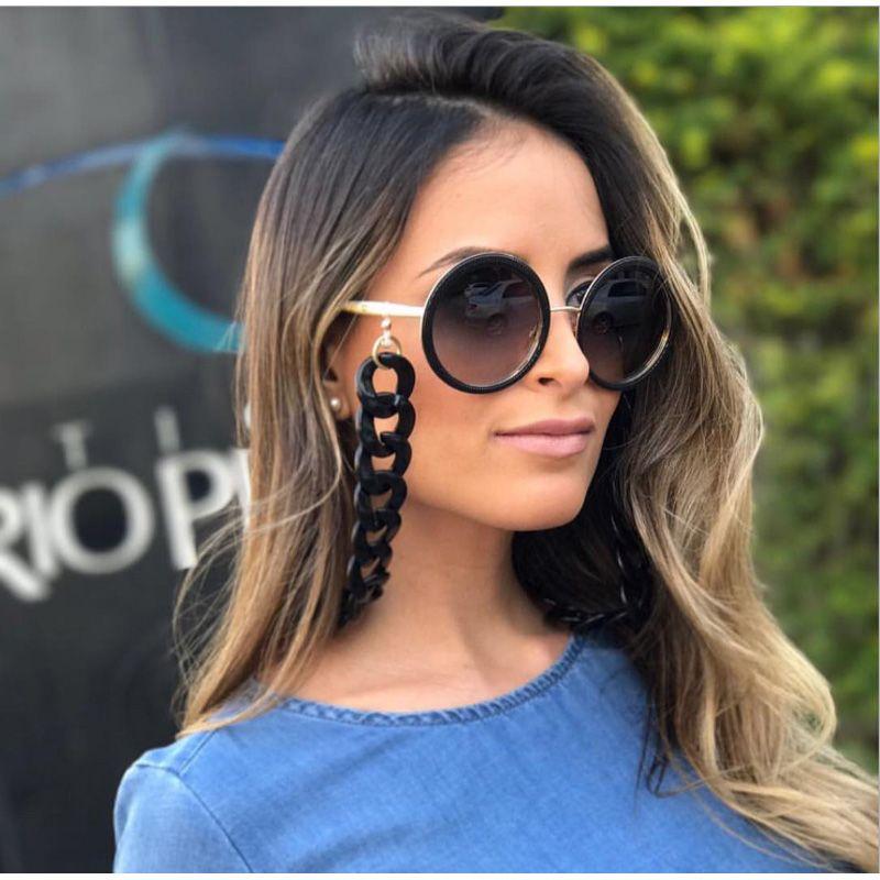 Retro 70cm Glasses Chain For Women Fashion European Black White Lanyards 37g
