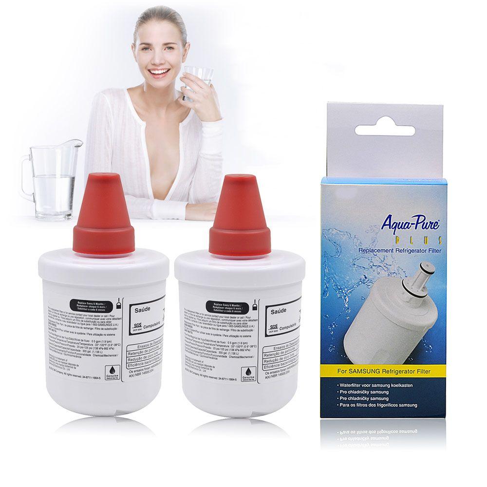 Remplacement de filtre à eau de réfrigérateur pour Samsung DA29-00003G DA29-00003B, DA29-00003A aqua-pure Plus purificateur d'eau 2 Pcs/lot