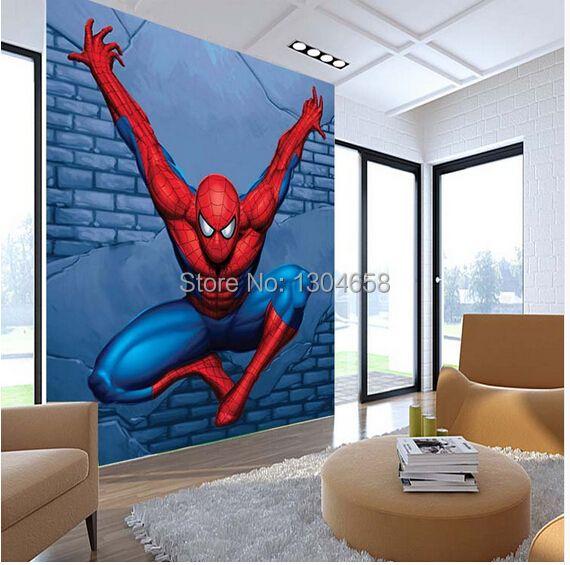 Custom children wallpaper, Spiderman mural for the children's room bedroom TV backdrop waterproof papel de parede