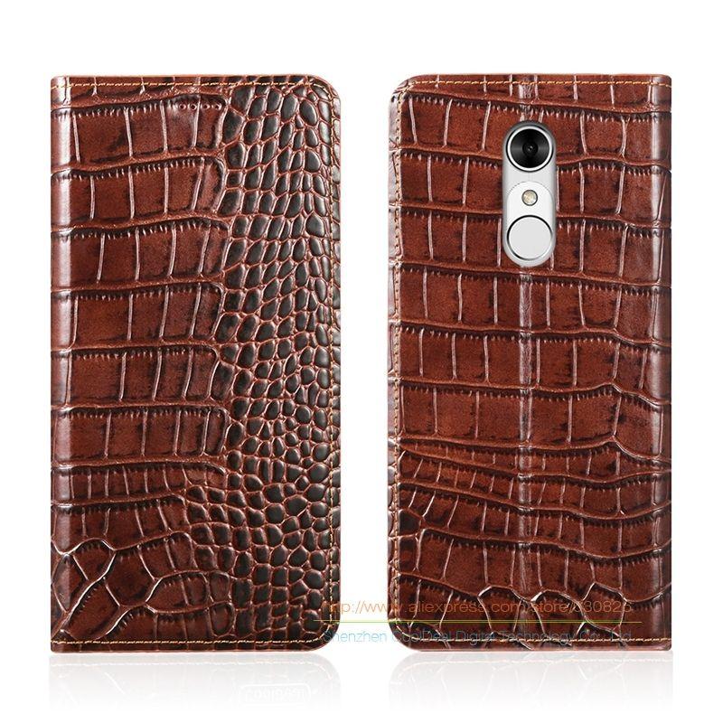 Crocodile Grain Genuine Leather Case For ZTE BA910 Blade A910 A 910 5.5