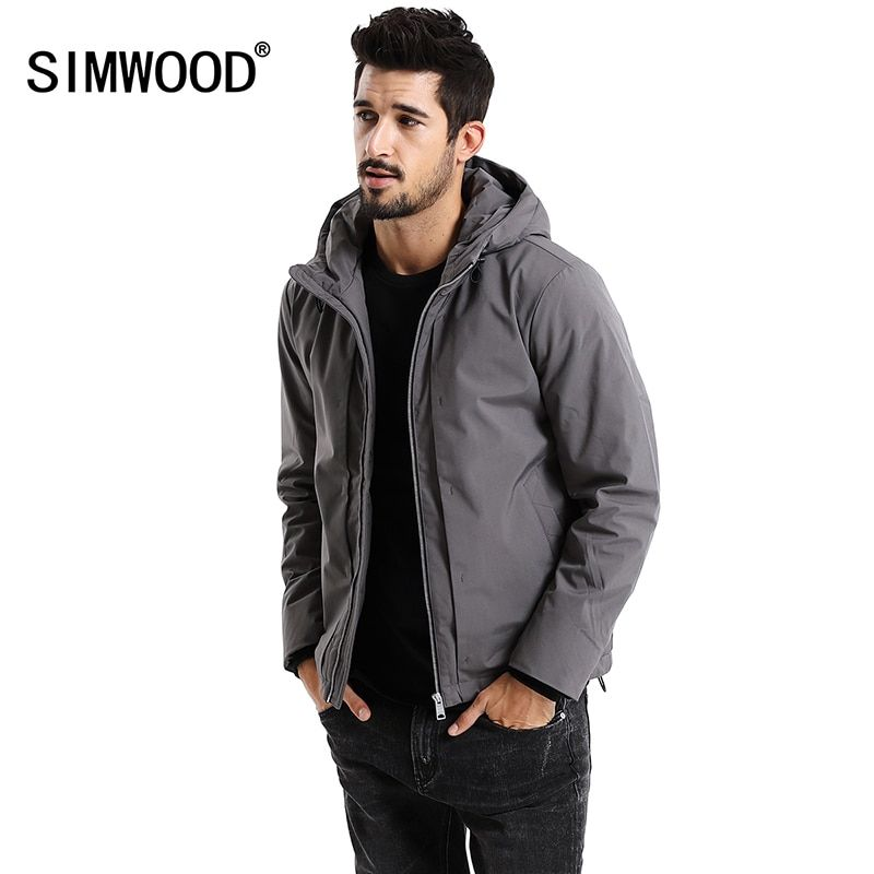 SIMWOOD New 2017 Winter Men Outerwear Plus Size Polyester Thick Fashion Jacket Men Casual Warm High Quality Brand Coats MD017002