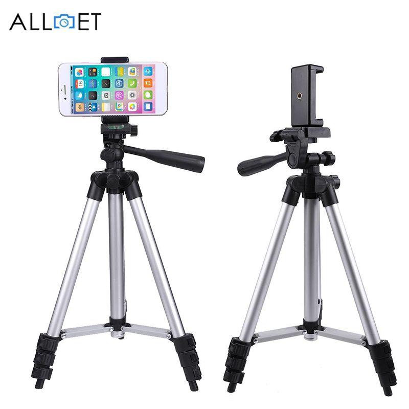 1060mm Portable Smartphone appareil photo numérique trépied support pour appareil photo reflex numérique avec clip de fixation de téléphone Portable pour iPhone X 7 6 S 6 Plus 5 s