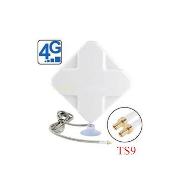 Intérieure 4g 35DBI 2 * TS9 Antenne Mimo pour Huawei 4g Modems E5776 E859 E5375 E3276 E392 E5571 e8278