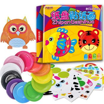 Montessori Educational DIY Drawing Toys Plate Painting Toys Colorful Creative Early Learning Toys For Children Gift CZ2448H