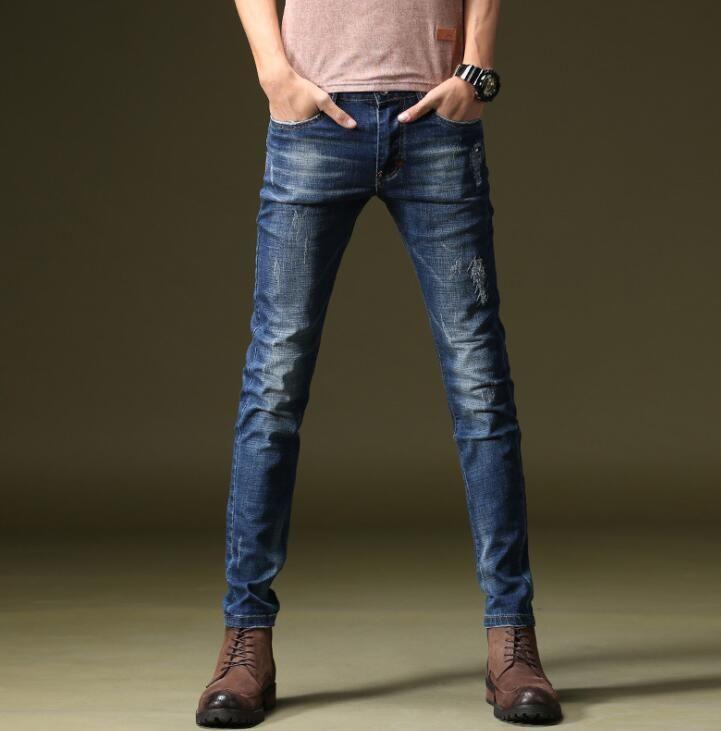 Bonne qualité 2019 printemps offres spéciales élégant hommes Jeans Discount populaire Long homme pantalon livraison gratuite