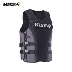 Neoprene Profession Life Vest CE Adult Fishing Vest Surfing Drifting Motorboat Buoyancy Life jacket Swimming Floating Clothing